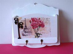 Porta cartas e porta chaves | Neiva Artes em MDF | Elo7