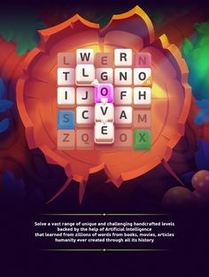 Under a Spell - Word Puzzle on Behance I Love Games, Games To Play, Game Design, Ui Design, Menu Design, Puzzel Games, Under A Spell, Farm Games, Game Interface