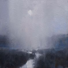'Snow Showers Over the Flats' 12x12 Oil on Linen by David Sharpe