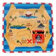 Pirate Theme Party supplies    1 - pack of 7 of 8 cake plates    Also available in our Pirate party section we have plates, banners, swirl