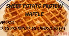 Check out this Sweet Potato Protein Waffle recipe and its incredibly friendly macro breakdown. It's a great way to diversify your breakfast!