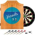 20.5 in. Charlotte Hornets Hardwood Classics NBA Wood Dart Cabinet Set