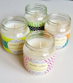Baby Jar Soy candles 4 Assorted Scents by LilacAve on Etsy, $12.00