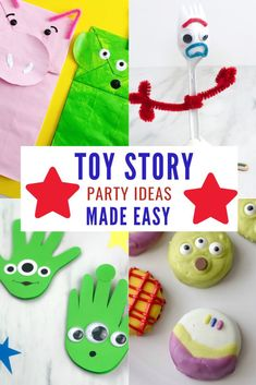 Are you planning a Toy Story birthday party for your little one? Take the stress out of party planning with this easy Toy Story party ideas. There are crafts ideas, party decor and food recipes to help you create the Toy Story party of your dreams! #toystorybirthday #toystorybirthday #twoinfinity #toystory4birthday #partyideas #kidspartyideas