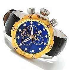 617-877 - Invicta Reserve Mid-Size Venom Swiss Made Quartz Chronograph Leather Strap Watch