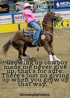 What did growing up cowboy do for your character?     Here's what seven-time NFR-qualifying team roper Cesar de la Cruz had to say… #GrowingUpCowboy