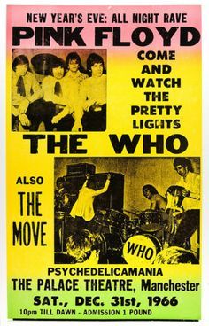 Pink Floyd and The Who, New Years Eve 1966 concert poster