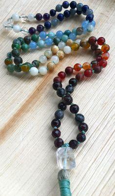 Black Friday Sale 8mm Chakra Mala Beads 7 by NakedPlanetJewelry
