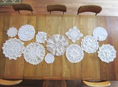 12 Vintage Doilies - DIY Wedding / Shower Table Runner Centerpiece - Lot of 12 White - Great for Lace & Burlap Wedding
