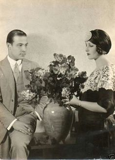 Rudolph Valentino and Natacha Rambova photographed at home, ca. Old Hollywood Glamour, Hollywood Actor, Golden Age Of Hollywood, Vintage Hollywood, Natacha Rambova, Rudolph Valentino, Horsemen Of The Apocalypse, Laurel And Hardy, Silent Film Stars