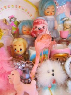 Pink Vintage 50s Collection poodle flamingo | Flickr - Photo Sharing!