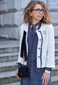 Marionette, fashionblog, fashion, outfit, ootd, lotd, style, streetstyle, chanel, zara, chanel boy, bag, wallet on chain, tweed, bow tie dress