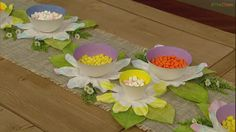 Carla's Craft Corner: Spring Flower Bowls! #TheChew #Crafts #DIY