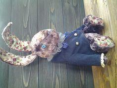 Купить кролик Эдвард - фиолетовый, тедди, кролик тедди, винтаж, Плюшевый мишка, винтажный плюш