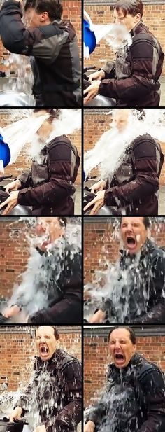 You can never have too many pins of Benedict Cumberbatch's #IceBucketChallenge for ALS.