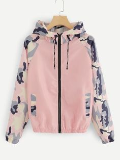 New etuoji women camouflage long sleeve lightweight hooded windbreaker zipper casual coat casual jackets. 5 from top store protoideas Stylish Outfits, Cool Outfits, Fashion Outfits, Jackets Fashion, Fashion Hoodies, Style Fashion, Coats For Women, Jackets For Women, Vetement Fashion