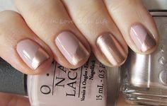 25 eye catching minimalist nail art designs rose gold blush pink nails and design Fancy Nails, Cute Nails, Pretty Nails, Classy Nails, Simple Nails, Minimalist Nails, Hair And Nails, My Nails, Uñas Fashion