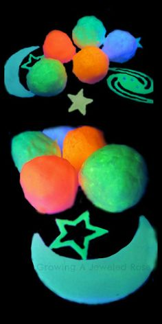 Discuss and learn about Outer Space with Space Rocks!  Other FUN space activities for kids here too including MOON Dough, hatching alien eggs, and more!