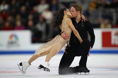 Madison Chock and Evan Bates compete in the championship free dance during the 2019 U. Figure Skating Championships at Little Caesars Arena on January 2019 in Detroit, Michigan. Get premium, high resolution news photos at Getty Images Ice Skating, Figure Skating, Ice Dance, January 26, The Championship, Detroit Michigan, Skate, Dancing