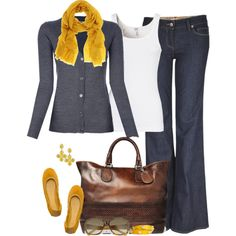 """Yellow"" by partywithgatsby on Polyvore"