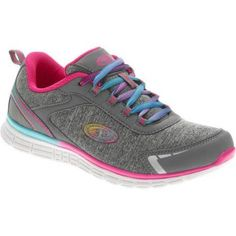 Athletic Works Girls Lightweight Athletic Shoe, Girl's, Size: 3, Gray