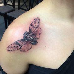 Got tattoo today!!! Thank you Gino.  I love it.. @genoski @klockwork_tattoo_club  #klockworktattooclub #cicadatattoo