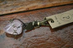 Rose Quartz Crystal Clip