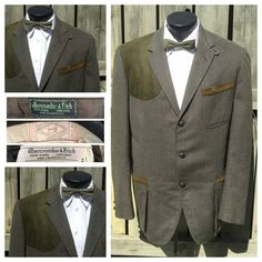 VINTAGE 1950s Mens Sport Coat. AMBERCROMBIE & FITCH by bamapana