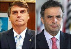 """Ciente das dificuldades de viabilizar a candidatura própria pelo seu partido, Bolsonaro revelou simpatia à ideia de ser vice de Aécio Neves: """"Seria uma grande honra para mim"""""""