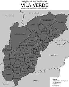 Freguesias do concelho de Vila Verde