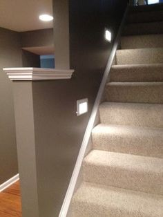 Like the lights in the walls near the stairs.