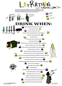 LOTR Drinking Game. You're so nice I'll pin a variation :P