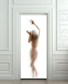 Door STICKER woman shower cubicle bathroom mural decole by Wallnit