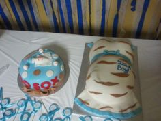 baby shower cakes, jack & jill shower (red sox cake was for the dad)