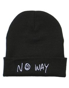 No Way Beanie on NYLONshop: http://shop.nylonmag.com/collections/whats-new/products/no-way-beanie