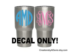 Yeti Rambler 30 oz Decal / Yeti Decal for by CreationsbyADavis