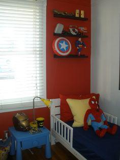 Super hero room, boy side