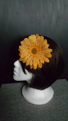 Orange or Burgundy Gerber Daisey Flower Hair Clip Hair