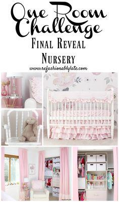 One Room Challenge Final Reveal Nursery www.refashionablylate.com
