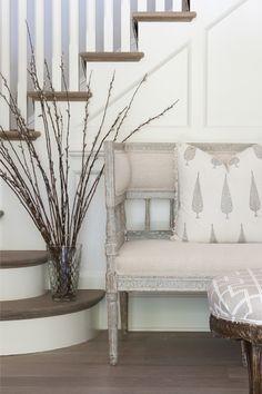 Modern home gustavian settee | Nightingale Design