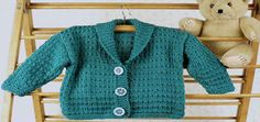 Tumba Toddler's Shawl Jacket - Knit Free Pattern