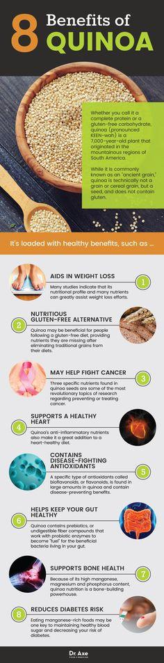 """Healthy benefits of quinoa, """"the mother grain""""."""