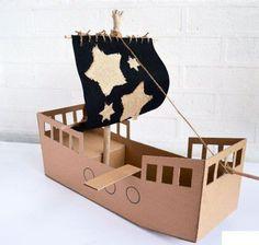 como hacer un barco pirata paso a paso
