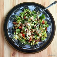 Monterey Chicken Chopped Salad - Inspired by Chili's Restaurant favorite. Copycat sandwich recipe too!