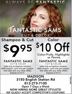 photograph relating to Fantastic Sams Printable Coupon known as 13 Most straightforward Hair Salon and Spa Discount codes photos within 2017 No cost