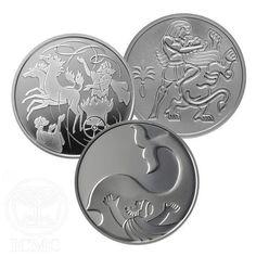 Set of 2 Silver Biblical Art Coins