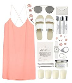 """""""Listen to your heart"""" by tinelemos ❤ liked on Polyvore featuring Mosley Tribes, Madewell, ASOS, Byredo, MANGO, Dogeared, La Vie en Rose, Davines, Marc by Marc Jacobs and Williams-Sonoma"""