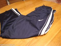 Men's Nike training pants medium M basketball active navy white stripe 383953