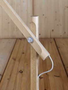 Direct light with swing arm adjustable wooden table lamp SLOPE - @miniforms