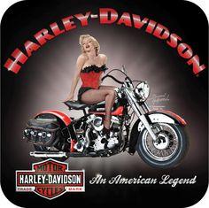 Harley-Davidson® Marilyn Monroe Legend Black Magnet